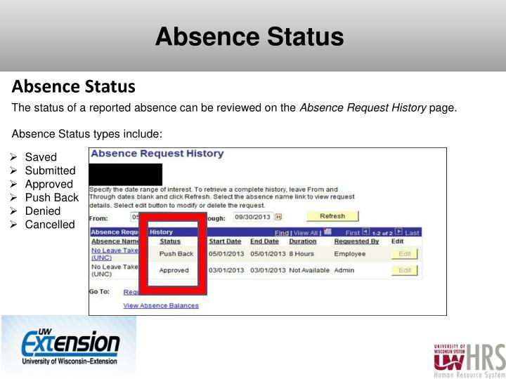 Absence Status