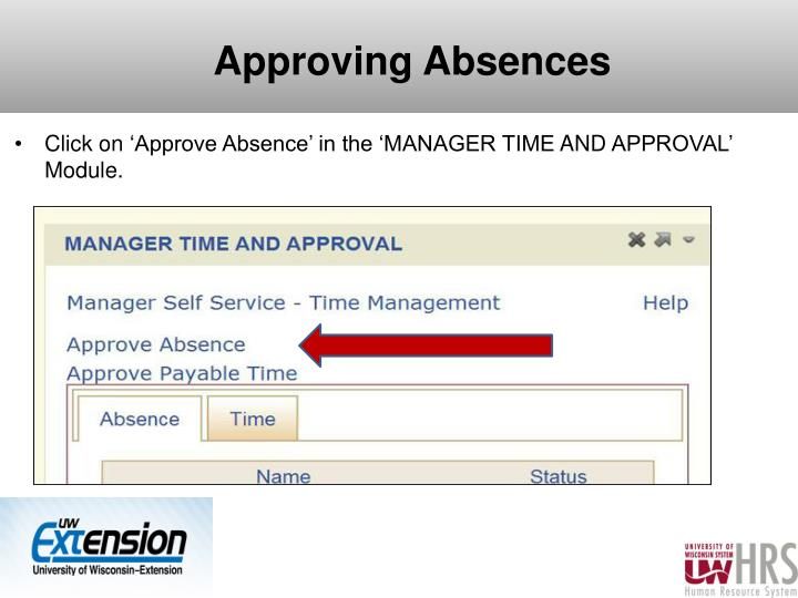 Approving Absences