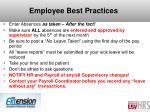 employee best practices