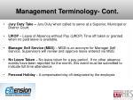 management terminology cont1