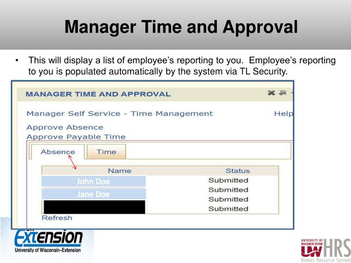Manager Time and Approval