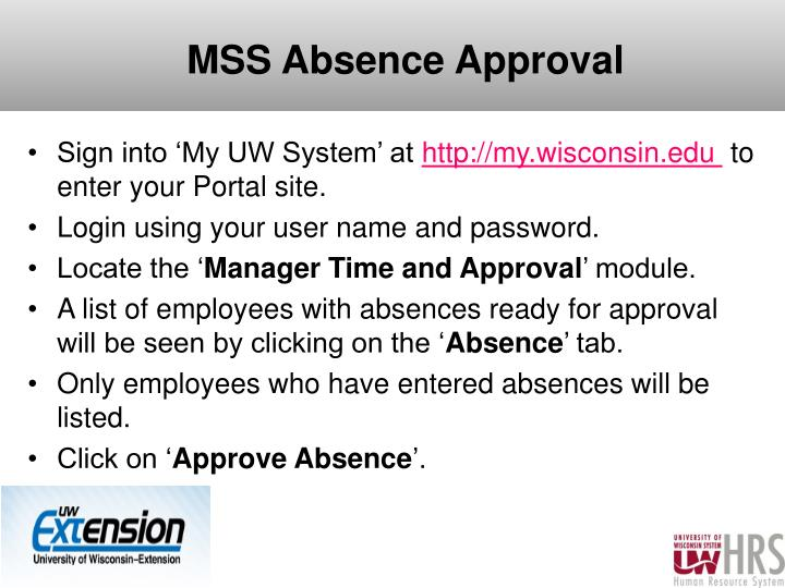MSS Absence Approval