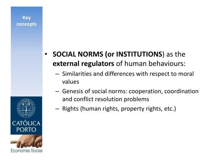 SOCIAL NORMS (