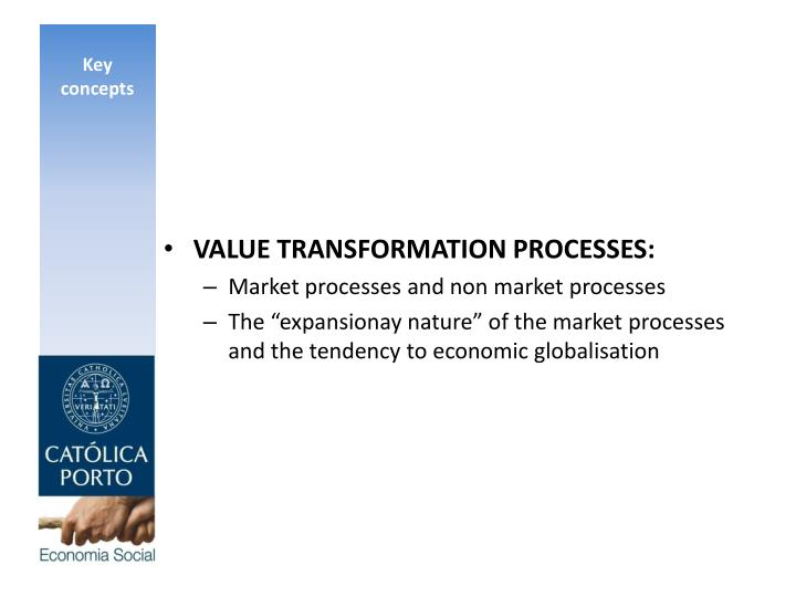VALUE TRANSFORMATION PROCESSES: