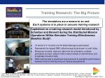 training research the big picture