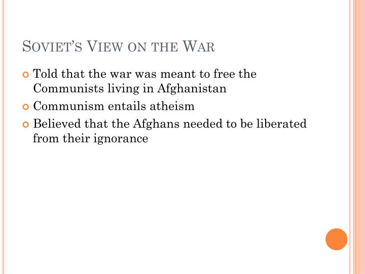 Soviet's View on the War