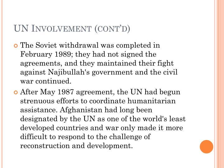 UN Involvement (cont'd)