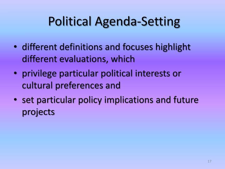 Political Agenda-Setting
