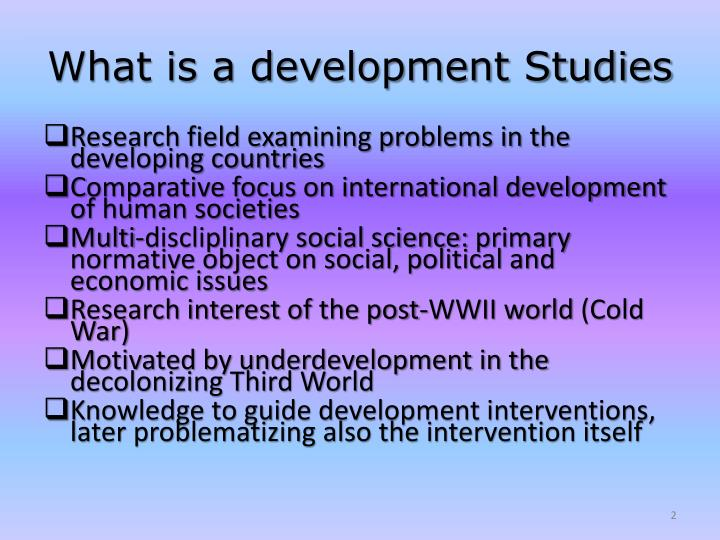 What is a development studies