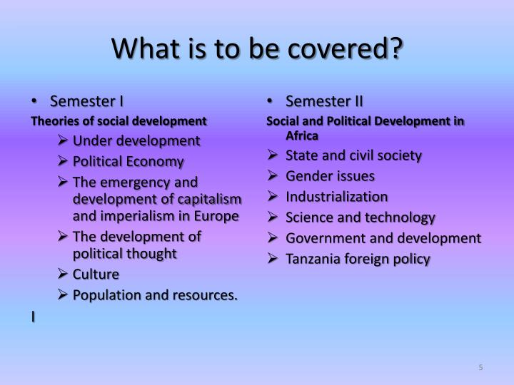 What is to be covered?