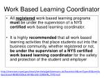 work based learning coordinator