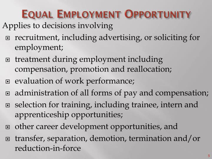 Equal Employment Opportunity