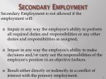 secondary employment