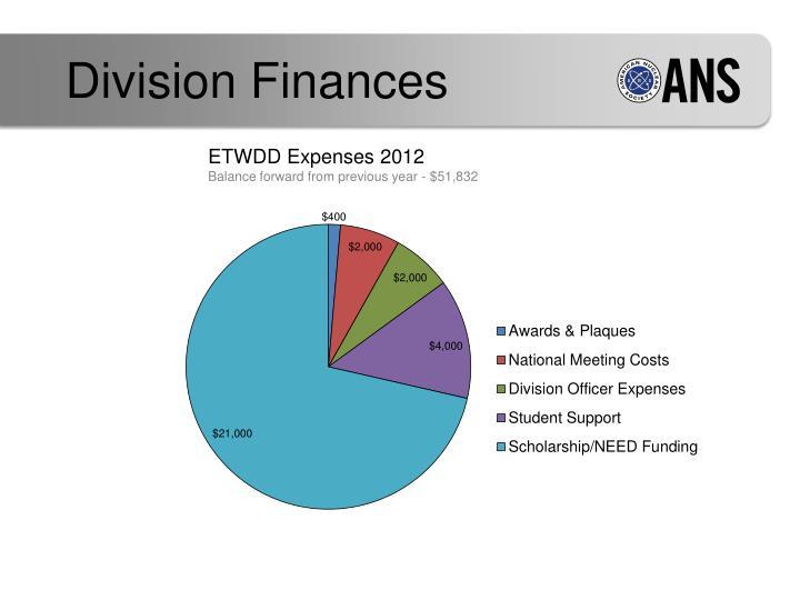 Division Finances