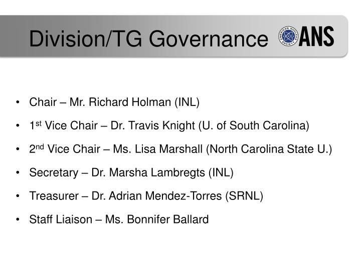 Division/TG Governance
