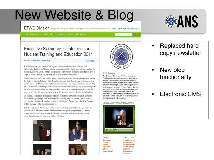New Website & Blog