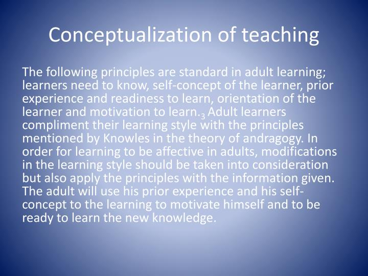 Conceptualization of teaching