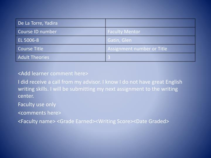 <Add learner comment here>