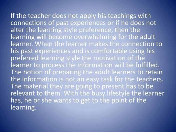 If the teacher does not apply his