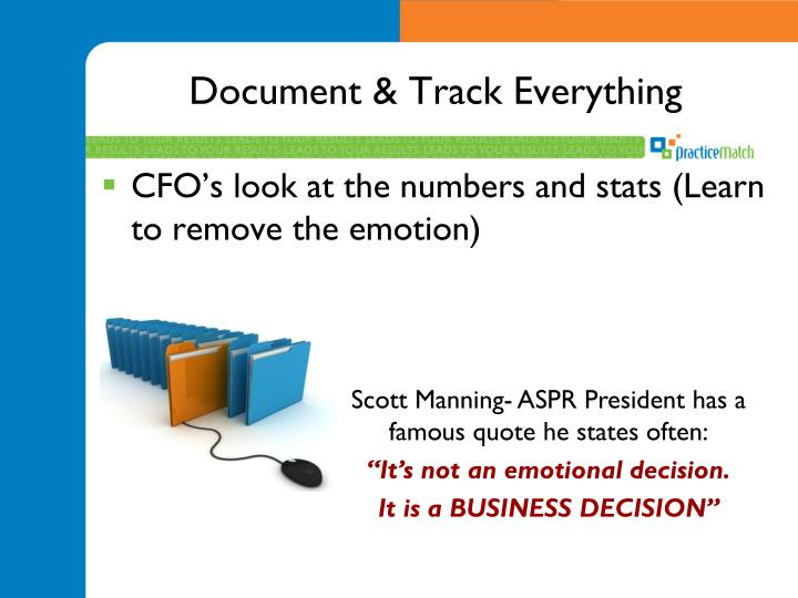 Document & Track Everything