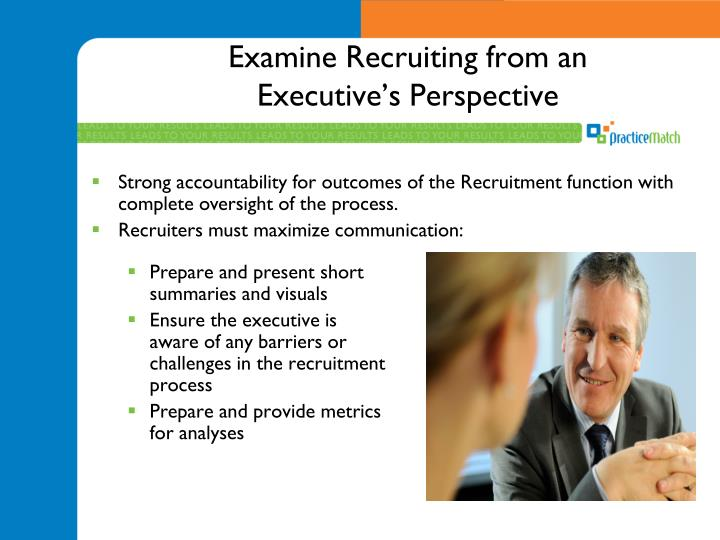 Examine Recruiting from an