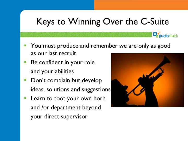 Keys to Winning Over the C-Suite