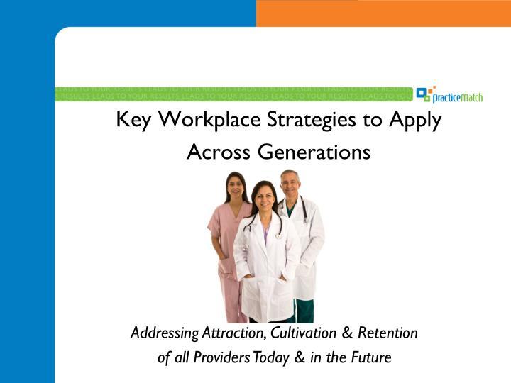 Key Workplace Strategies to Apply