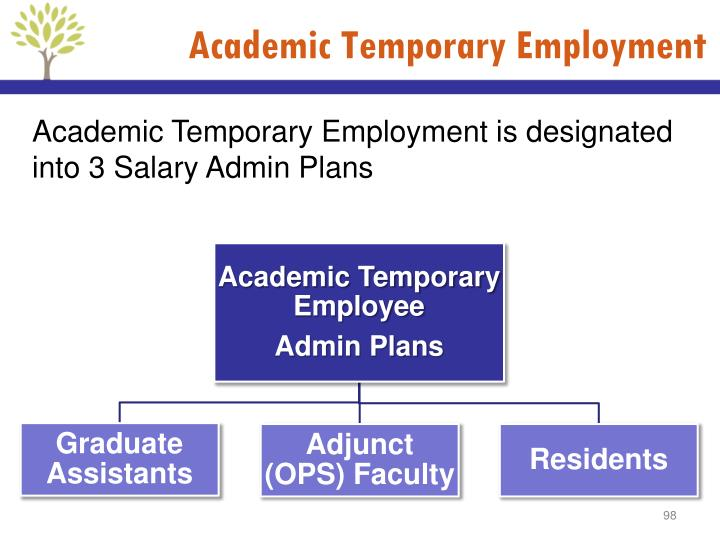 Academic Temporary Employment