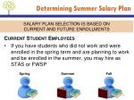 determining summer salary plan3