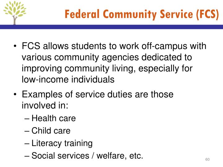 Federal Community Service (FCS)