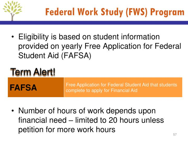 Federal Work Study (FWS) Program