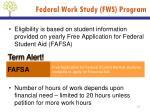 federal work study fws program1