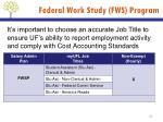 federal work study fws program4