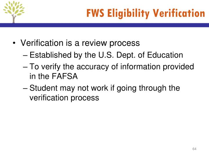 FWS Eligibility Verification