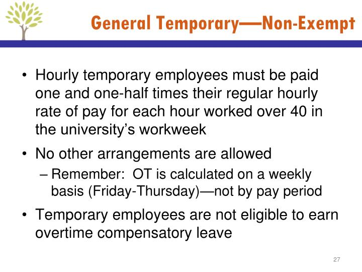 General Temporary—Non-Exempt