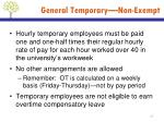 general temporary non exempt4