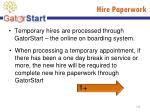 hire paperwork