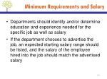 minimum requirements and salary2