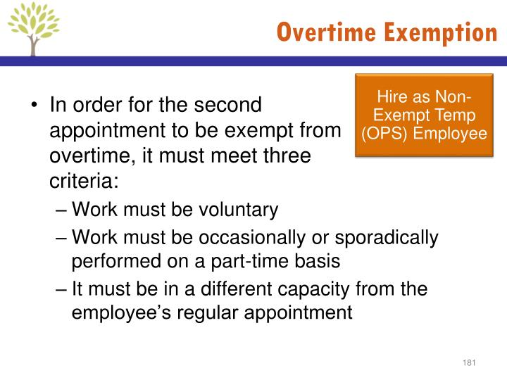 Overtime Exemption