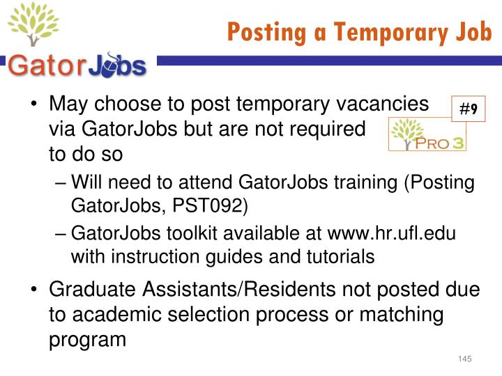 Posting a Temporary Job