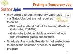posting a temporary job