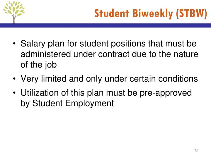 Student Biweekly (STBW)