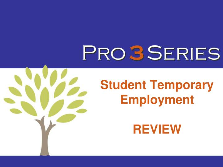 Student Temporary Employment