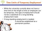 time limits of temporary employment