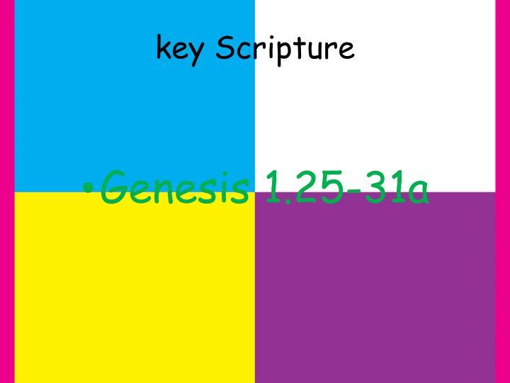 key Scripture