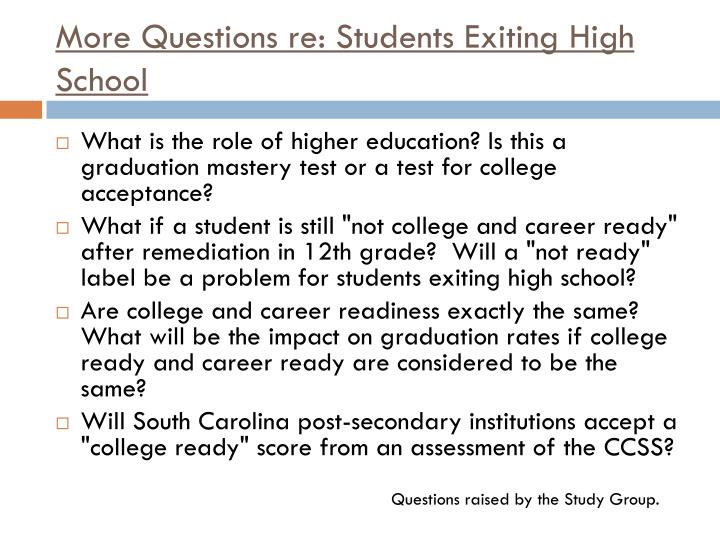 More Questions re: Students
