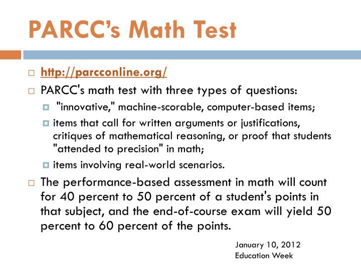 PARCC's Math Test