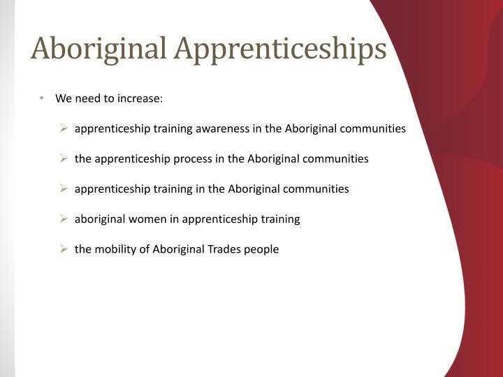 Aboriginal Apprenticeships