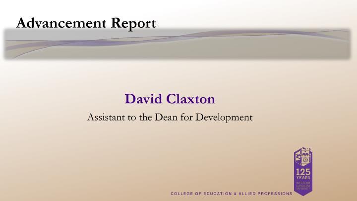 Advancement Report