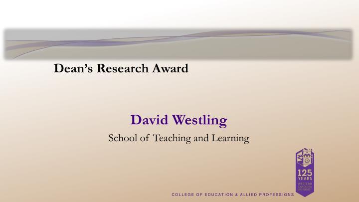 Dean's Research Award